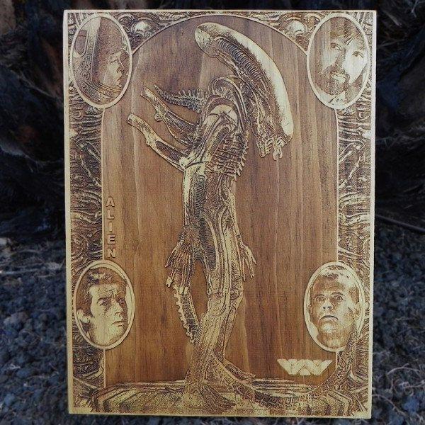 star-wars-alien-xenomorphe-tableau-panneau-bois-affiche-poster [600 x 600]