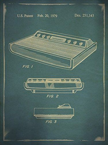 poster-affiche-atari-2600-brevet-console-gaming-retrogaming [375 x 500]
