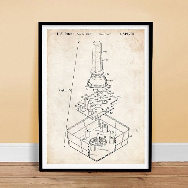 poster-affiche-atari-2600-brevet-console-manette-gaming-retrogaming [600 x 600]