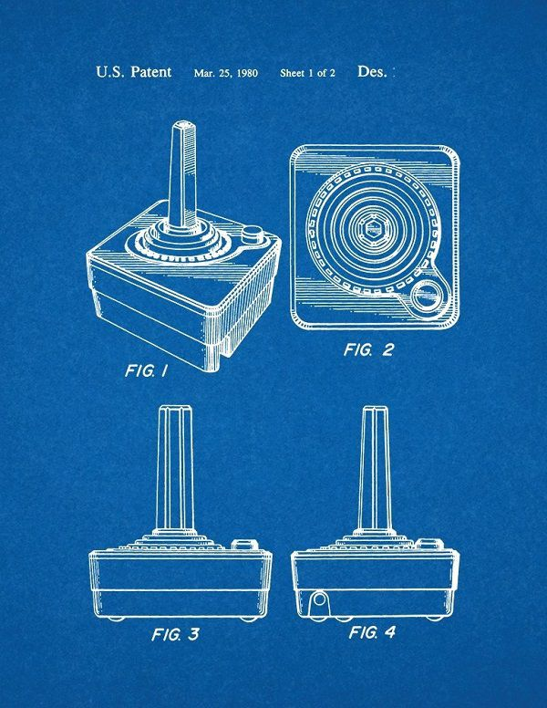 poster-affiche-atari-2600-brevet-console-manette-gaming-retrogaming [600 x 776]