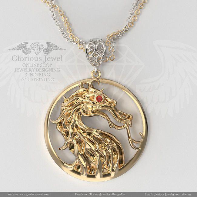 pendentif-mortal-kombat-logo-dragon-bijou [650 x 650]