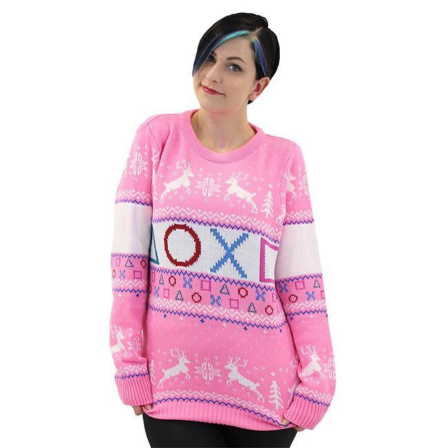pull-noel-sony-playstation-touche-manette-rose-sweat-shirt-gaming-femme-650-x-650